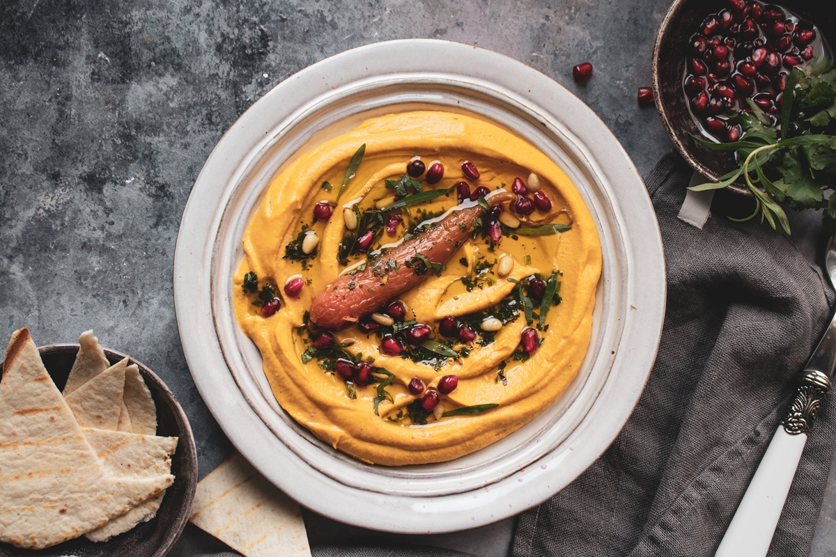 Χούμους με Ψητά Καρότα_Carrot Hummus