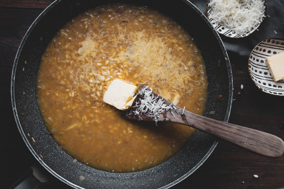Recipe risotto with mushrooms