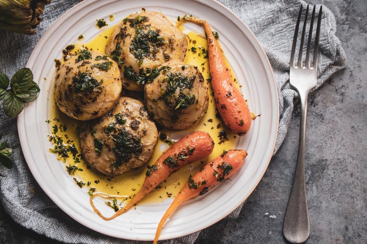 Συνταγή για Αγκνάρες με Καρότα
