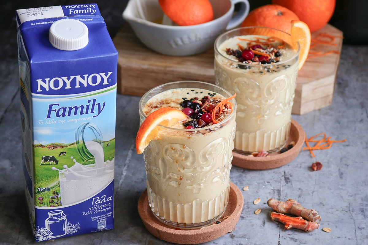 Smoothie με Ταχίνι, Πορτοκάλι και Μέλι