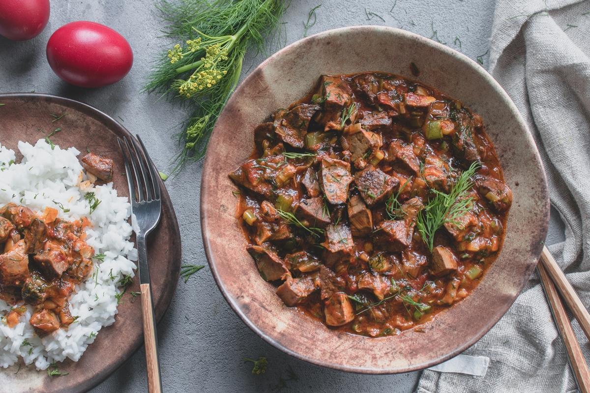 Συνταγές για Κοκκινιστή Μαγειρίτσα