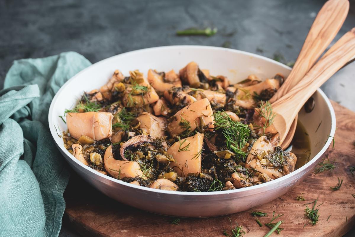 Συνταγές για σουπιές με μάραθο
