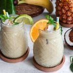 Σμούθι με ανανά, καρύδα και γιαούρτι