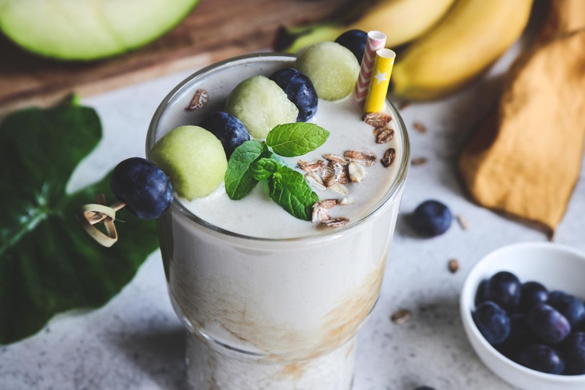 Smoothie με πεπόνι και μπανάνα