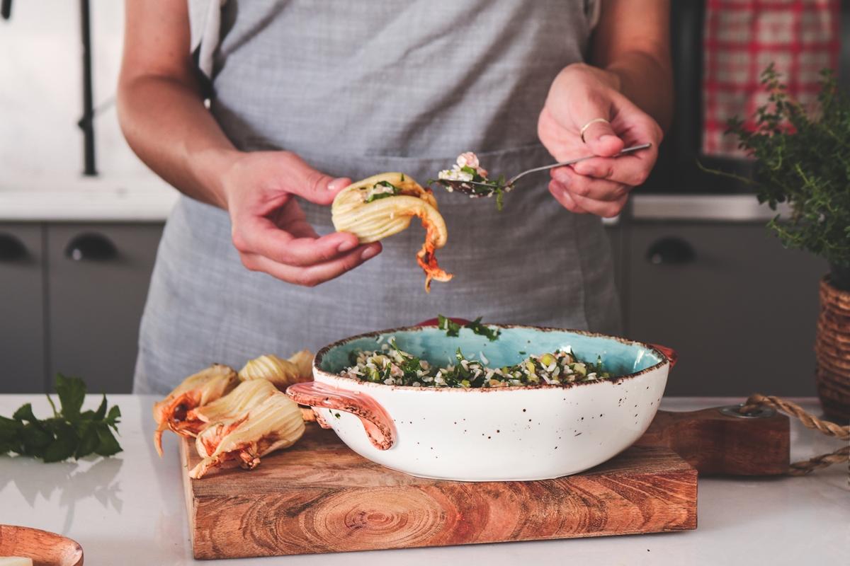Τσιμέτια, Κολυθοανθοί με ρύζι και τυρί από την Ίο