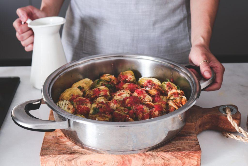 Συνταγή για γεμιστούς ανθούς, τσιμέτια