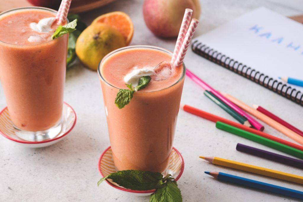 Συνταγή σμούθι καρότο πορτοκάλι μήλο