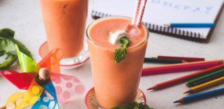 Smoothie με ροδάκινα, καρότα και πορτοκάλι