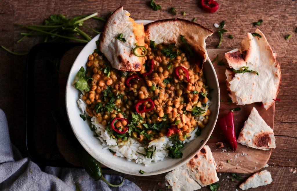 Curry με φακές Vegan Συνταγές