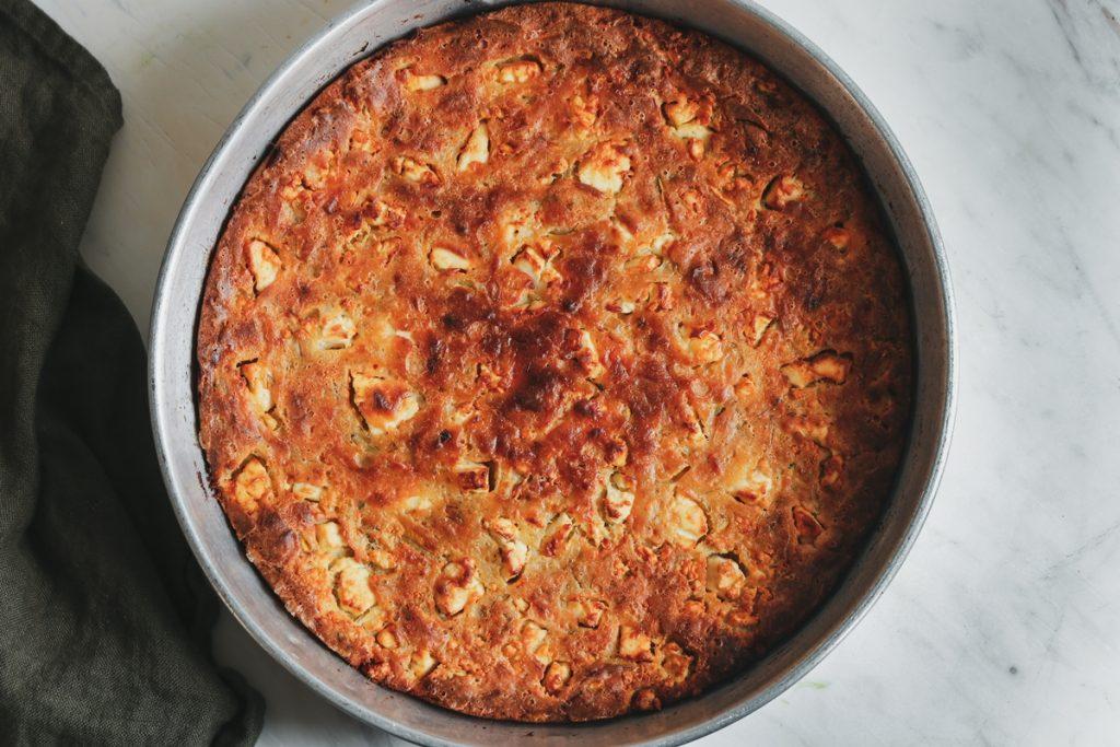 Ταρκάσι, Εύκολη κολοκυθόπιτα χωρίς φύλλο με τραχανά