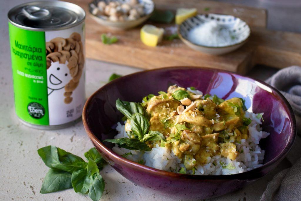Συνταγές για μανιτάρια και κοτόπουλο