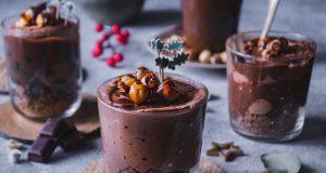 Cheesecake ψυγείου με σοκολάτα και φουντούκια