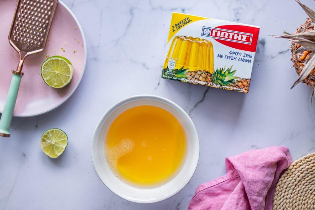 Εύκολες συνταγές με ζελέ ανανά γλυκά ψυγείου