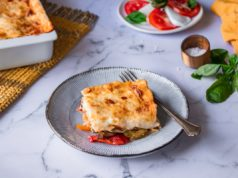 Λαζάνια με λαχανικά και τυριά