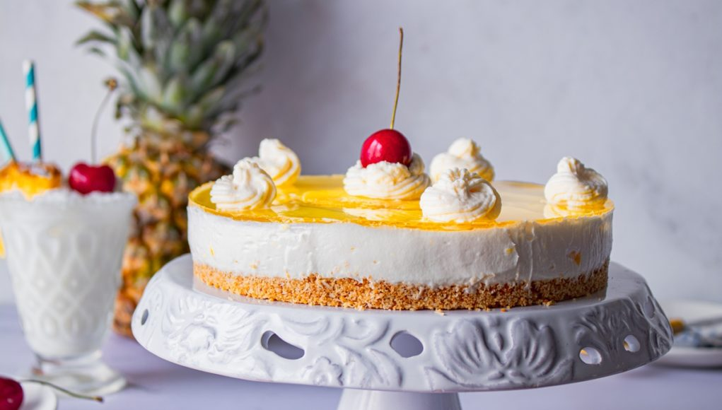 Cheesecake Ψυγείου με καρύδα και ανανά_Pina Colada Cheesecake