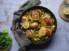 Μαροκινό κοτόπουλο με πράσινες ελιές και λεμόνι